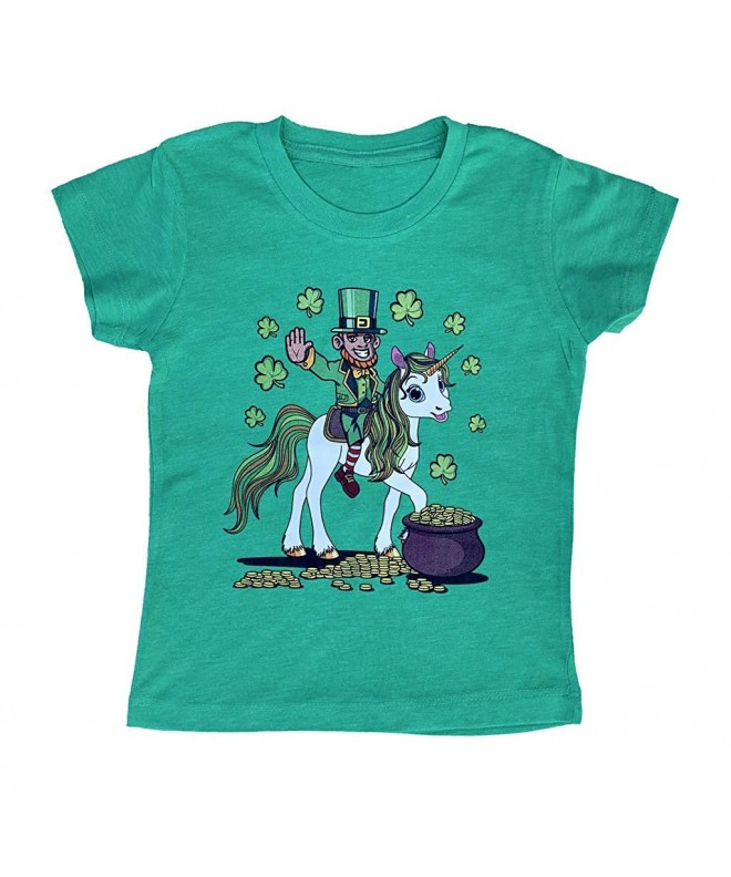 Leprechaun Riding Unicorn Patricks T Shirt