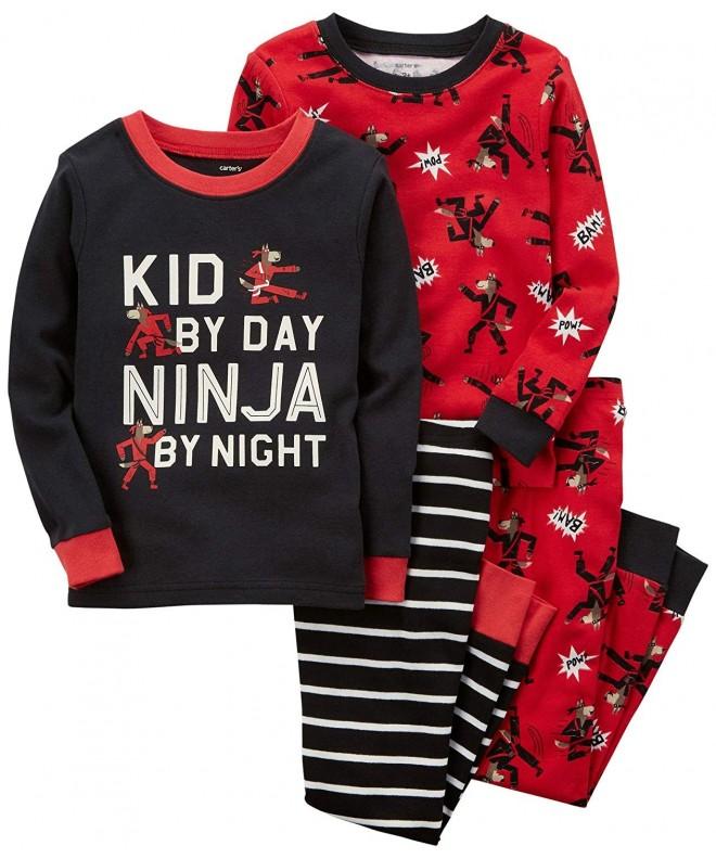Carters 4 Pc Ninja Cotton Pajamas