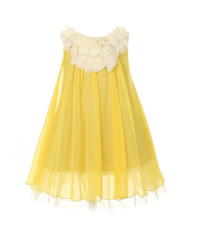 Kids Dream Yellow Chiffon Floral