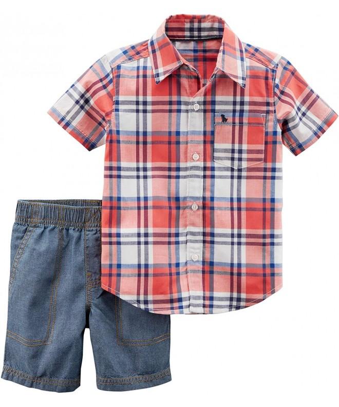 Carters 2T 5T 2 Pc Friends Shorts