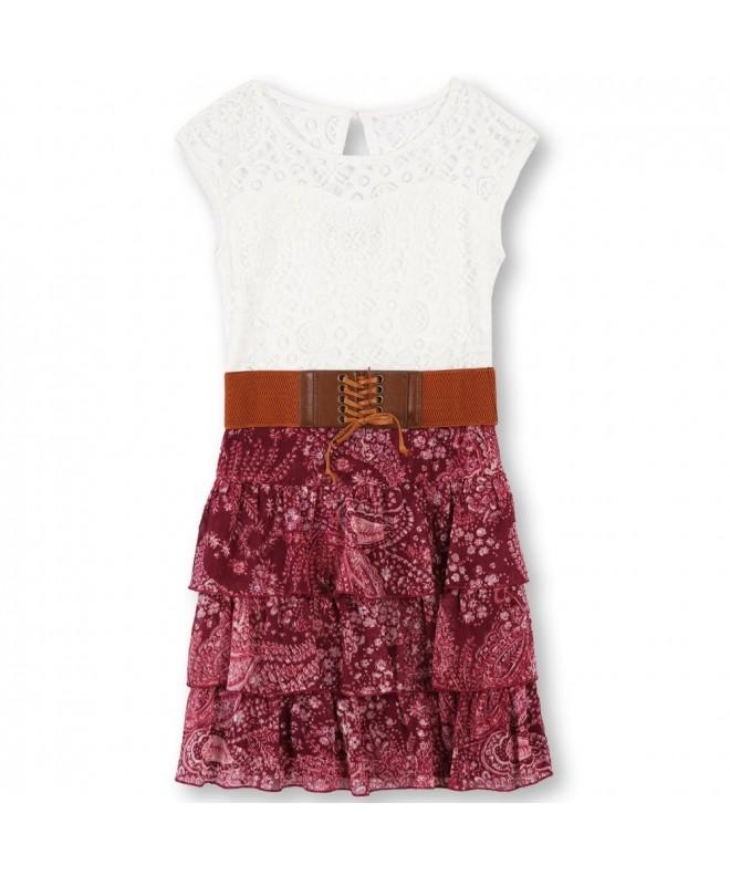 Speechless Girls Lace Bodice Dress