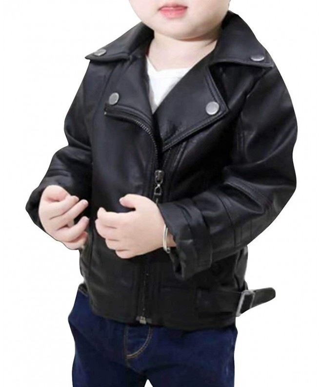 Leather Windproof Jacket Oblique Outerwear