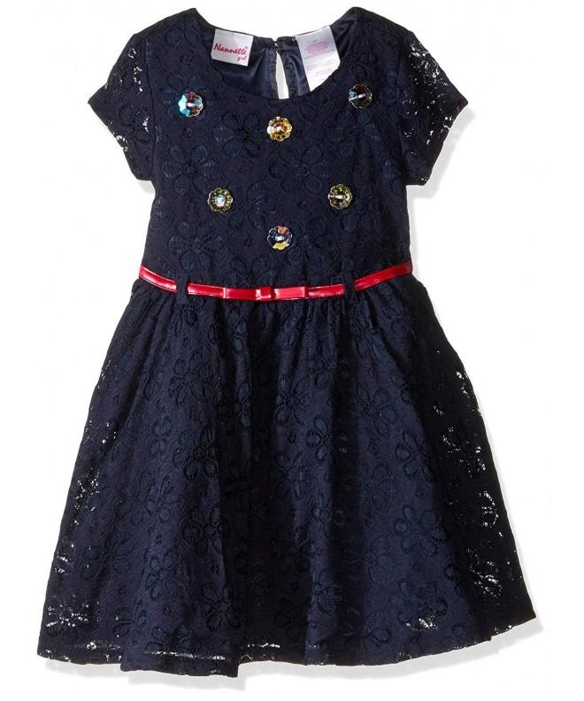 Nannette Girls Dress Rhinestone Bodice