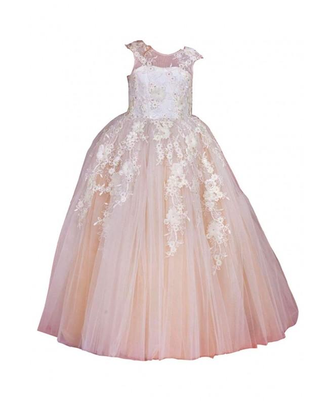 Mermaidtalee Sleeves Tulle Flower Dresses