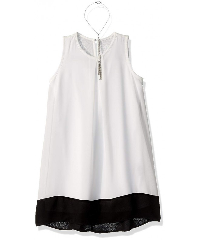 Amy Byer Sleeveless Colorblock Necklace