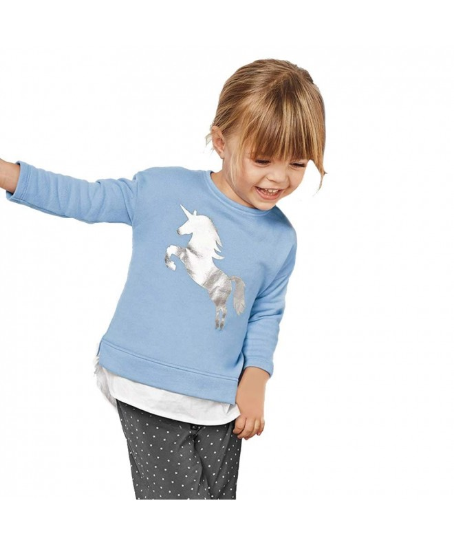 Unicorn Silver Toddler T shirt Sweatshirts