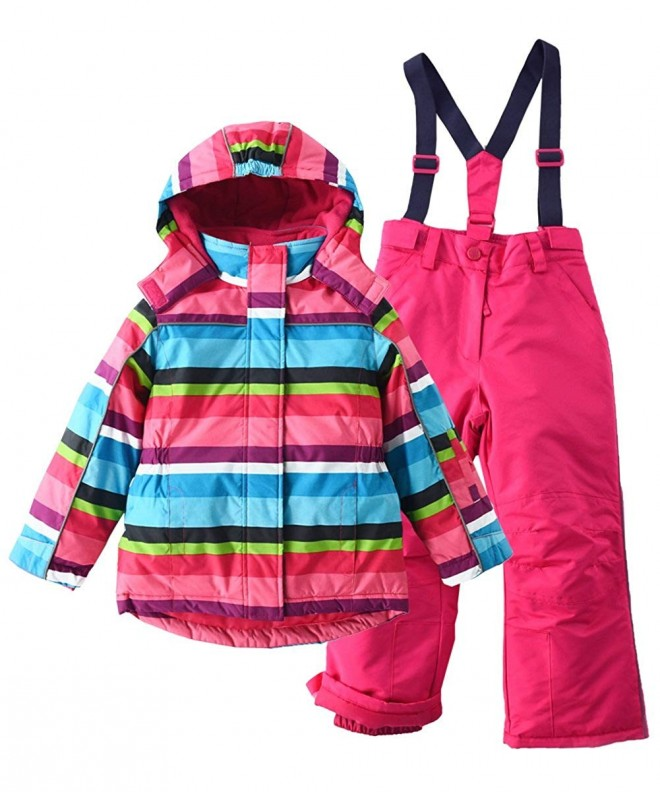 M2C Thicken Hooded Striped Snowsuit