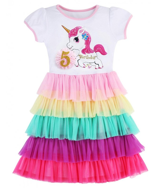 Birthday Princess Unicorn Rainbow Clothes