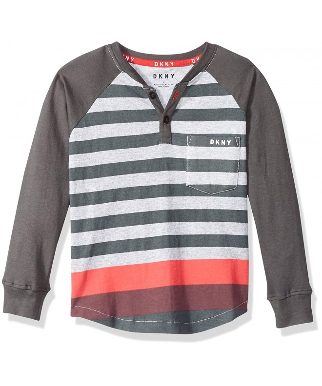 DKNY Sleeve Stripe Pocket Henley