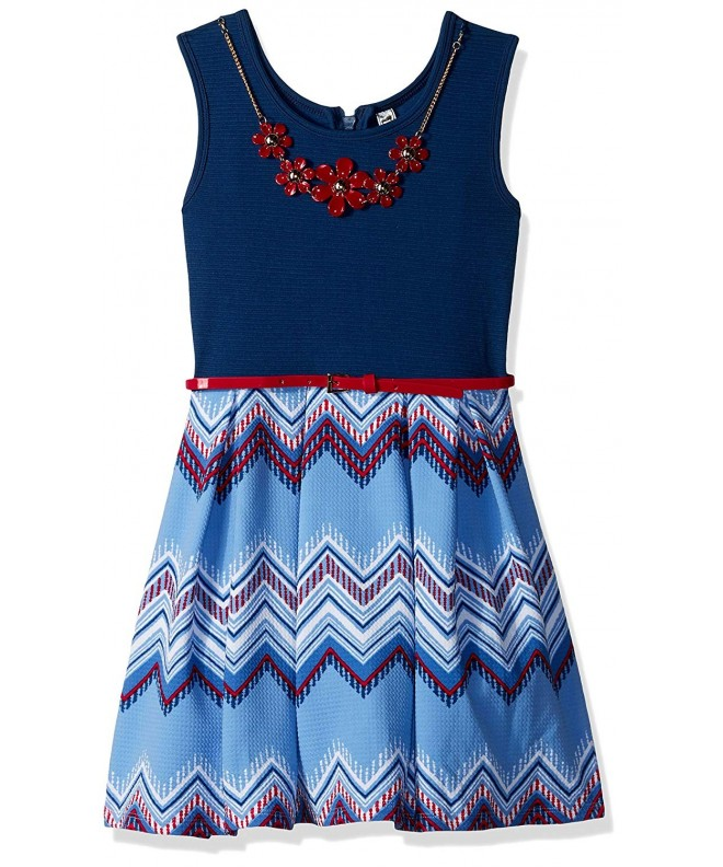 Beautees Girls Print Skater Dress