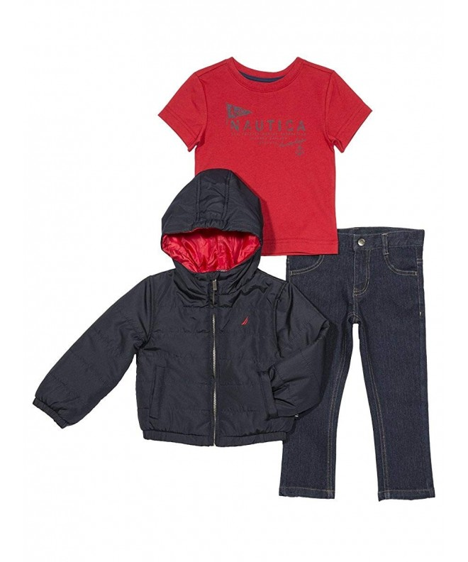 Nautica Boys Puffer Jacket Denim