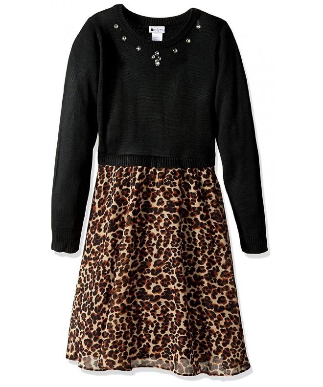 Youngland Girls Sweater Dress Chiffon