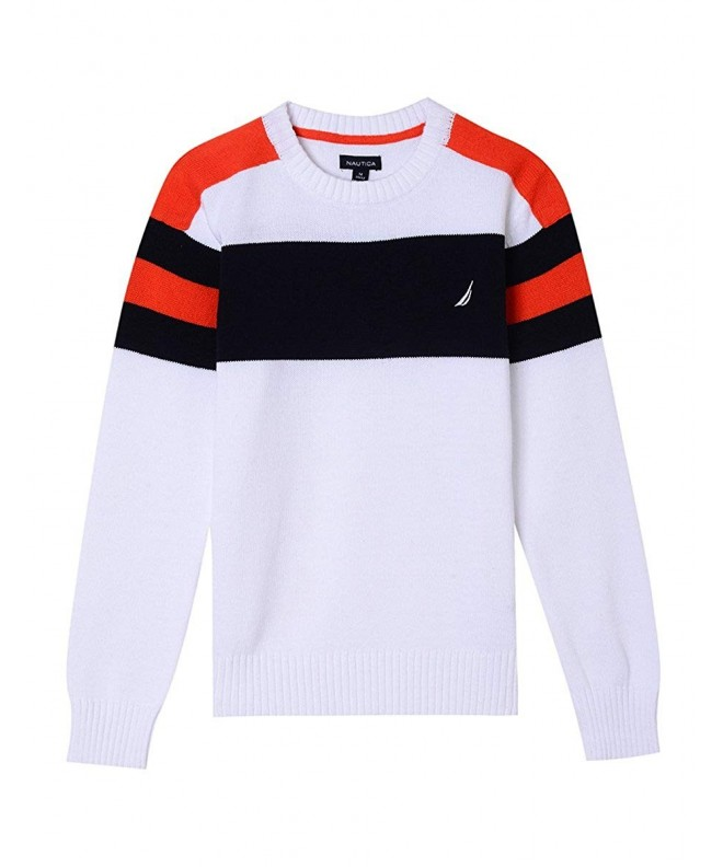 Nautica Boys Crew Stripe Sweater
