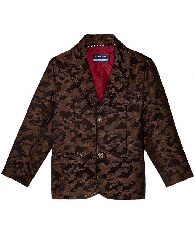 Andy Evan Boys Camo Blazer Toddler