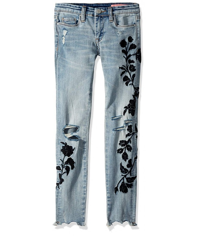 BLANKNYC Girls Embroidered Skinny Pants