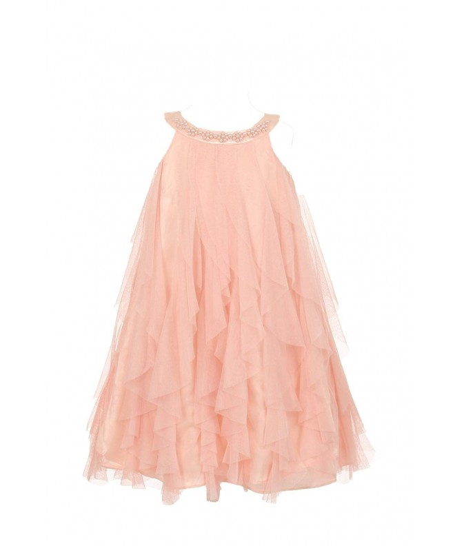 Kids Dream Ruffle Dress Beading