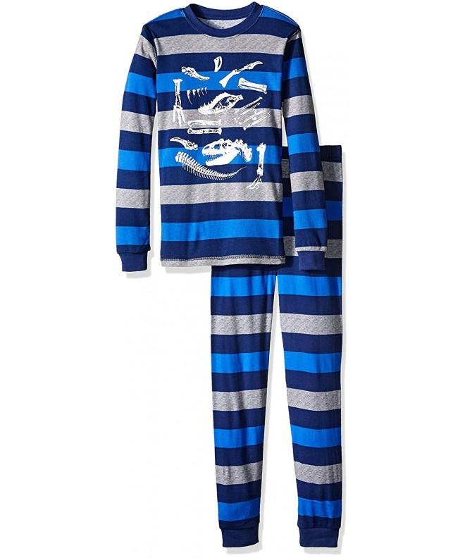 Petit Lem Dinosaur Stripe Pajama