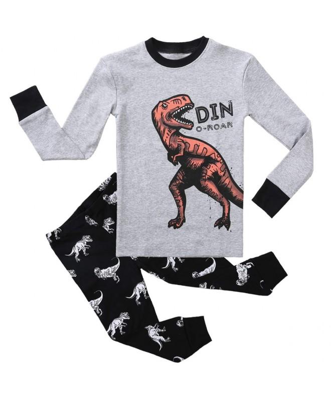 Pajamas Sleeves Snug Fit Toddler Sleepwear