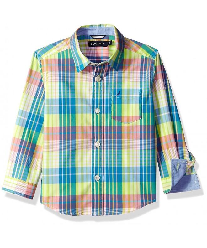 Nautica Sleeve Plaid Woven Shirt