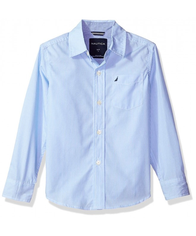 Nautica Sleeve Striped Woven Shirt