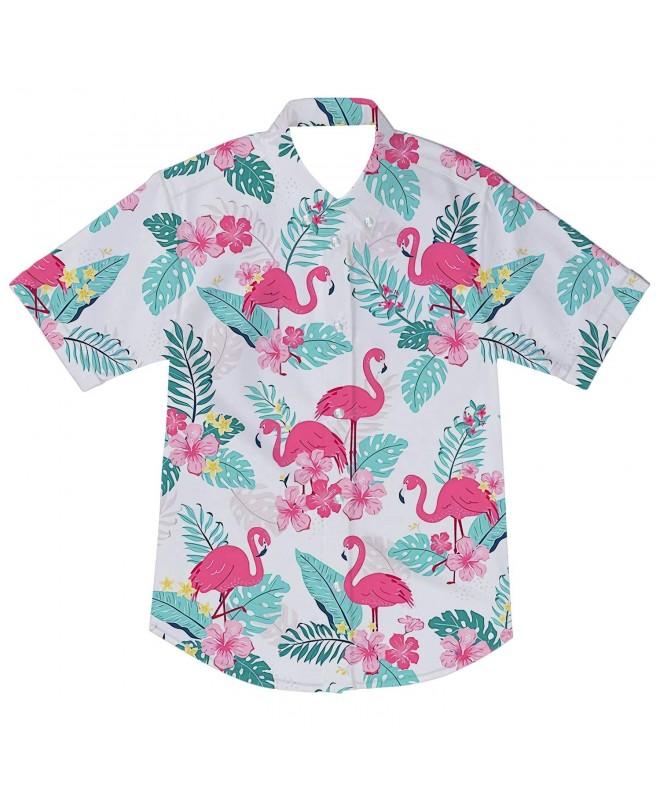 RAISEVERN Button Shirts Cartoon Slim Fit
