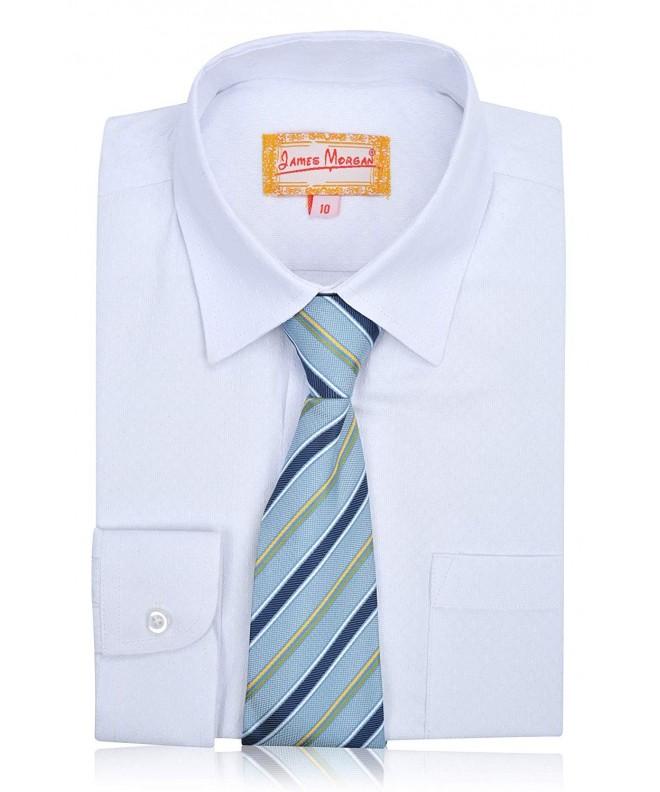 JAMES MORGAN White Dress Stripe
