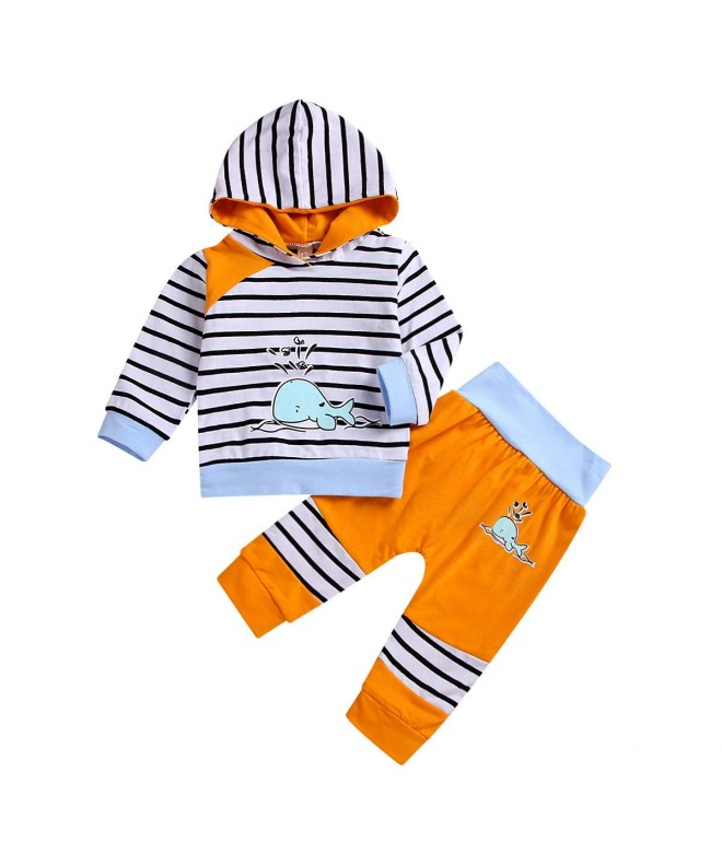 Infant Outfit Sleeve Hoodie Striped