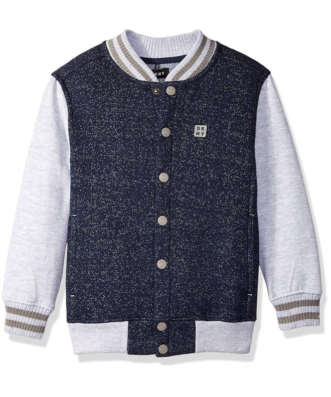 DKNY Grindle Fleece Varsity Jacket