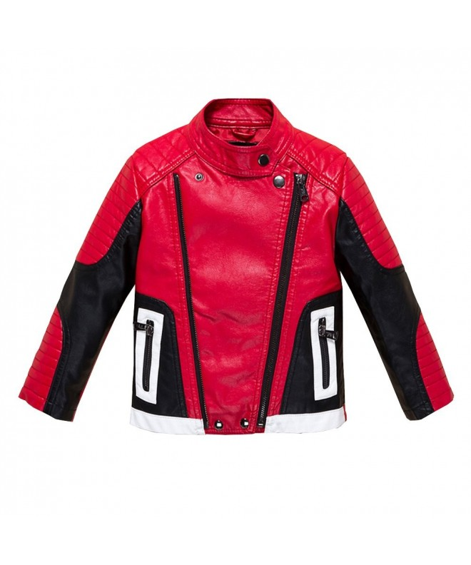 Budermmy Leather Motorcycle Jackets Toddler