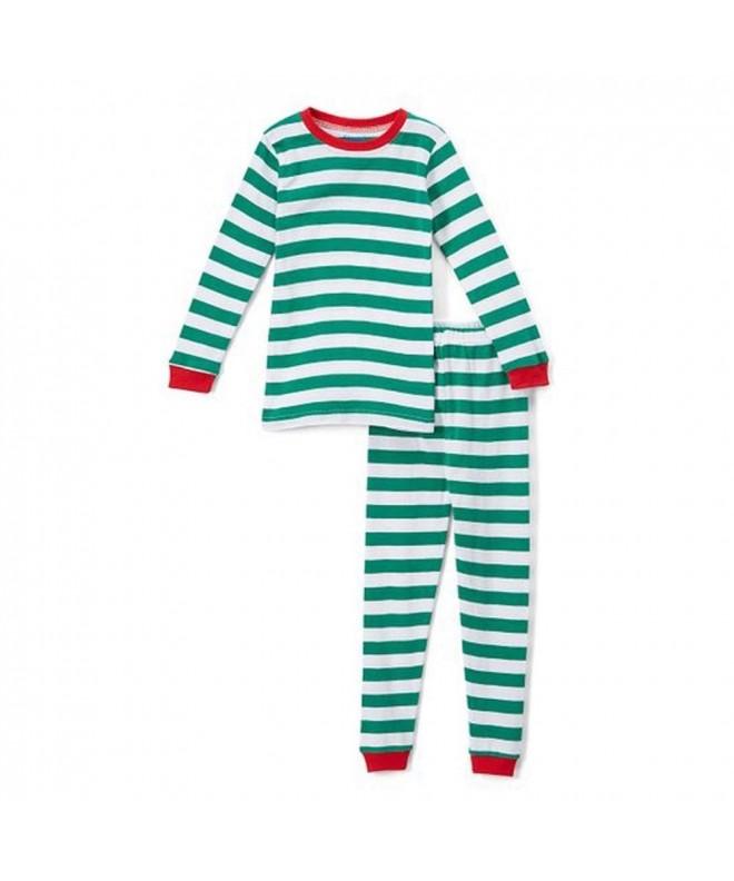 Elowel Santa Christmas Pajamas Cotton