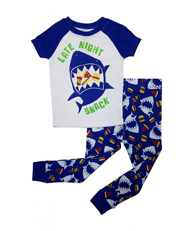 Shark Boys Pajamas Night Snack