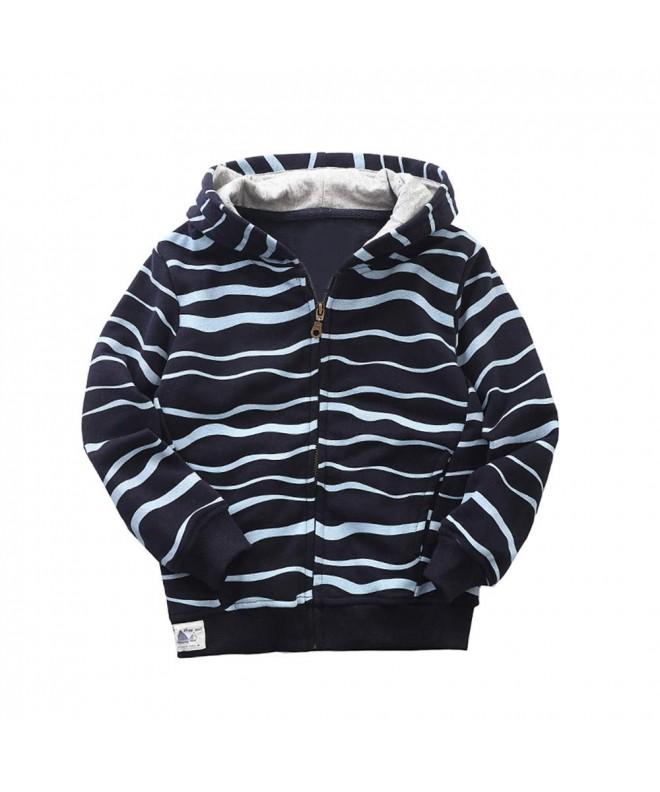 Abalacoco Outwear Hoodie Cotton Stripe