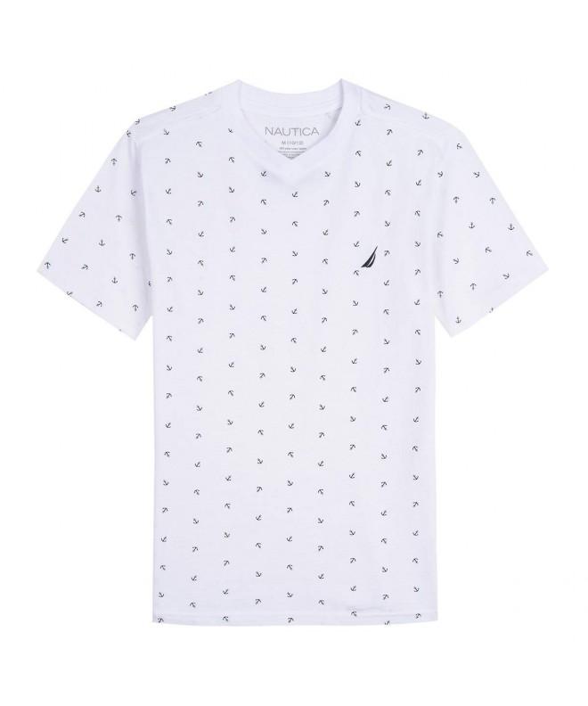 Nautica Short Sleeve Printed V Neck