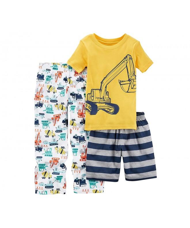 Carters Boys 10 14 3 Pc Construction Pajama