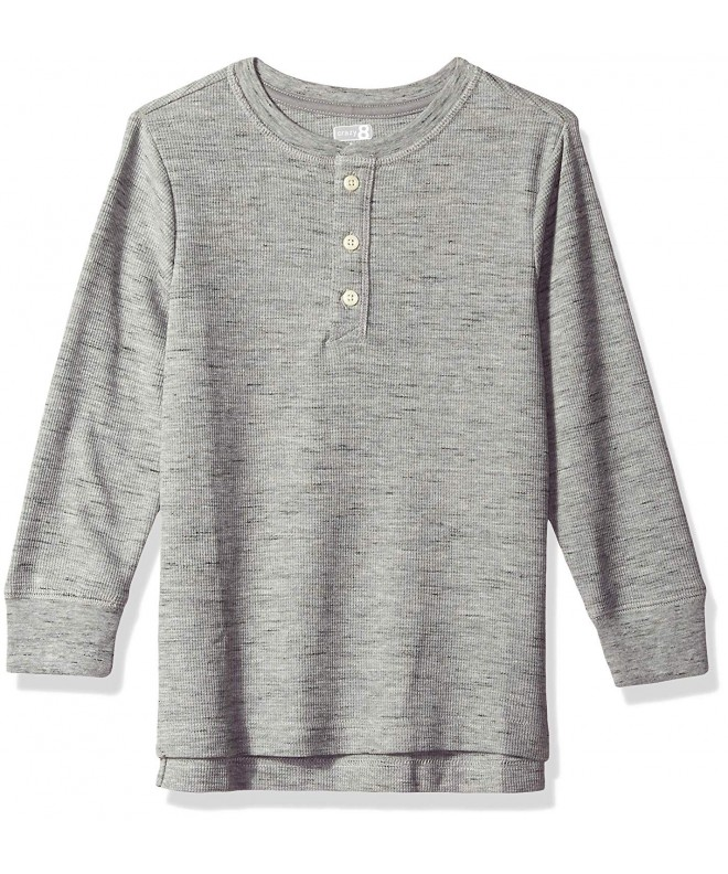 Crazy Boys Sleeve Curve Henley
