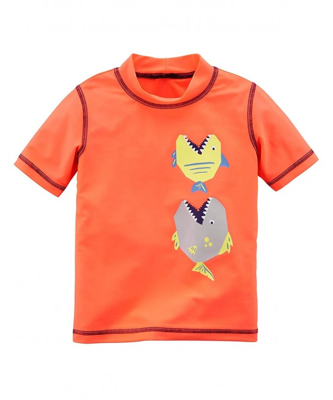 Carters Boys Rashguard Shirt Orange
