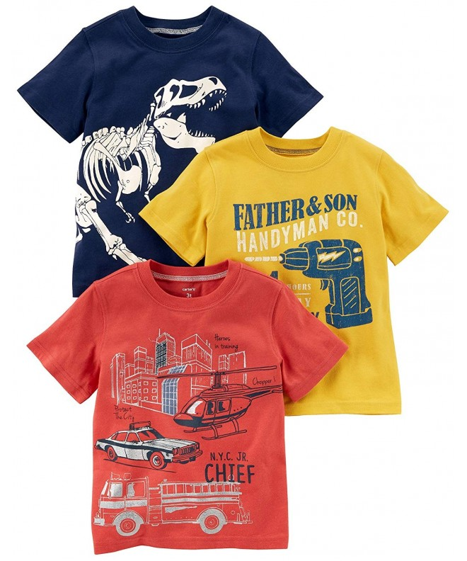 Carters Boys 3 Pack Short Sleeve Graphic
