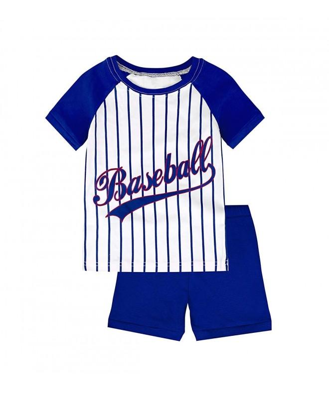Pajamas Baseball Cotton Short Toddler
