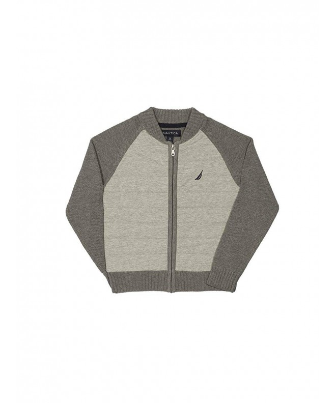 Nautica Quilted Baseball Style Sweater