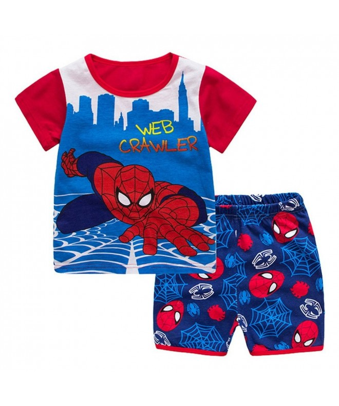 Meteora Spiderman Pajamas Summer Nightwear
