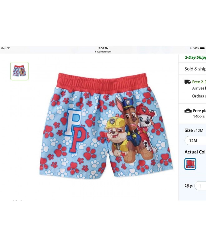 Nickelodeon Paw Patrol Swim Trunk