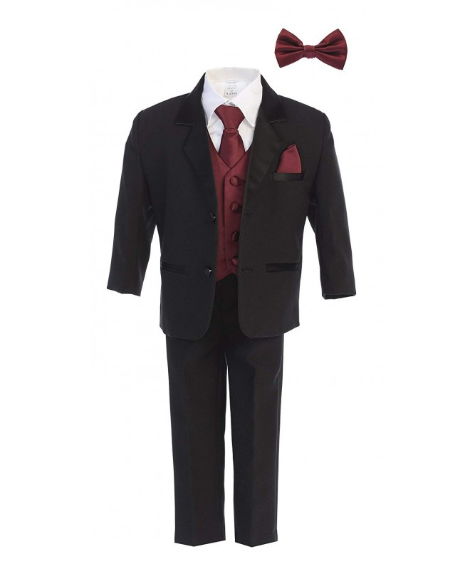 Little Gents Black Tuxedo Necktie