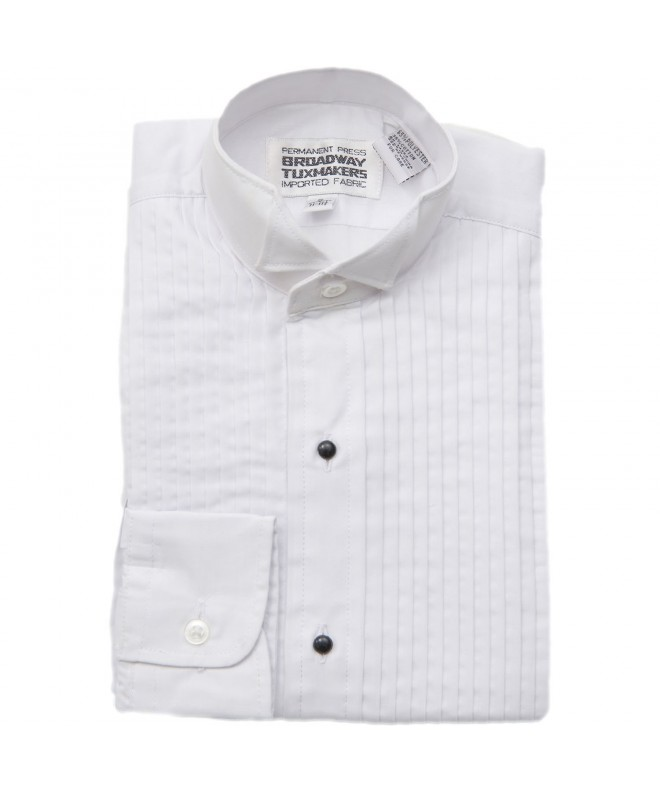 Boys Collar White Tuxedo Shirt