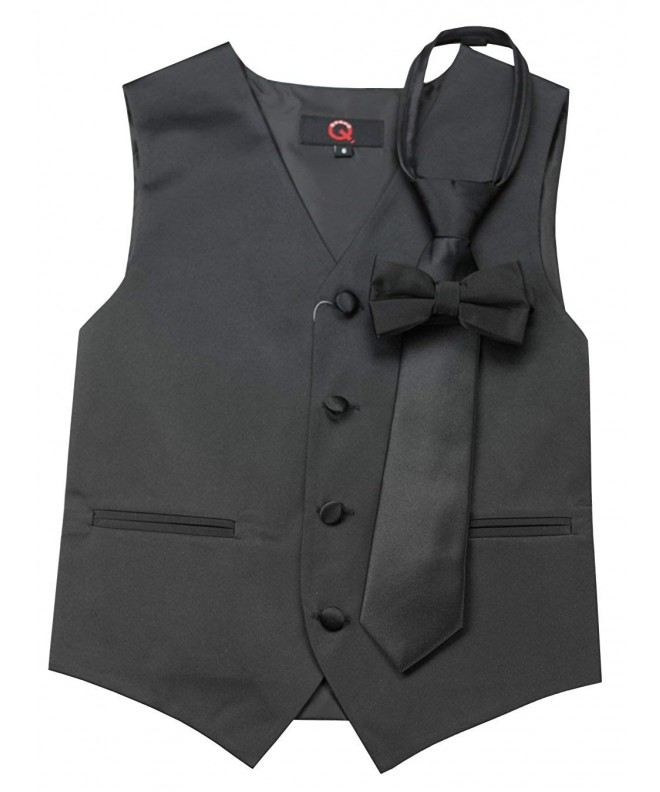 Brand Tuxedo Zipper Bow Tie Black
