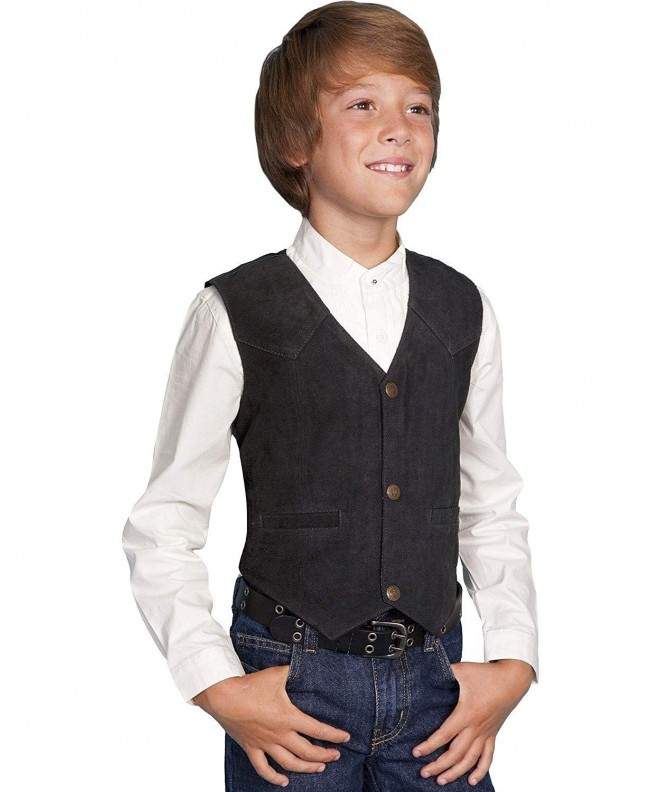 Scully Boys Boar Suede Vest