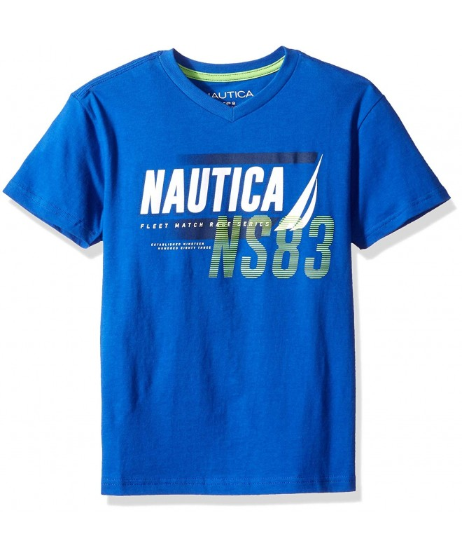 Nautica Sleeve Graphic V Neck T Shirt