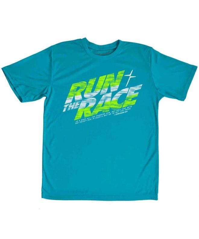 Kerusso Run Race Kids Active T Shirt Medium
