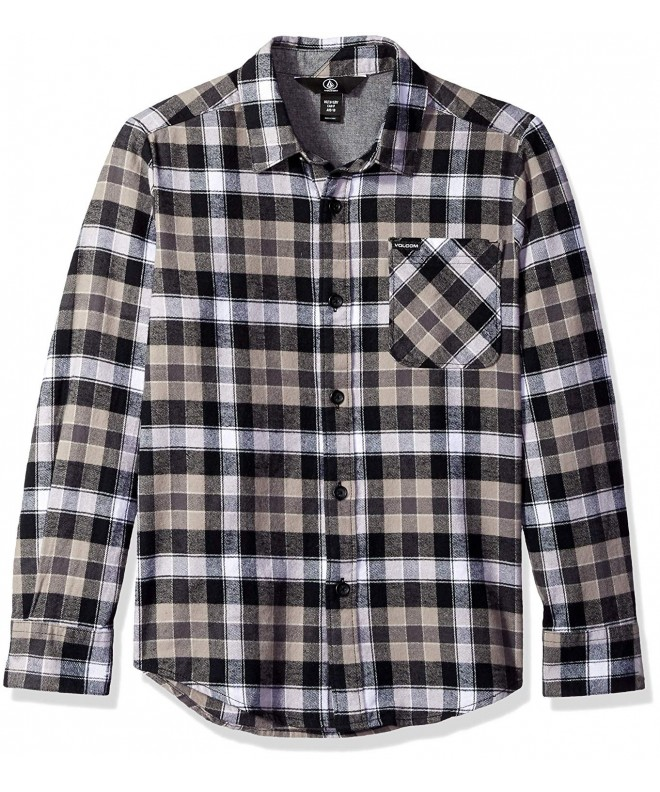 Volcom Caden Flannel Sleeve Button