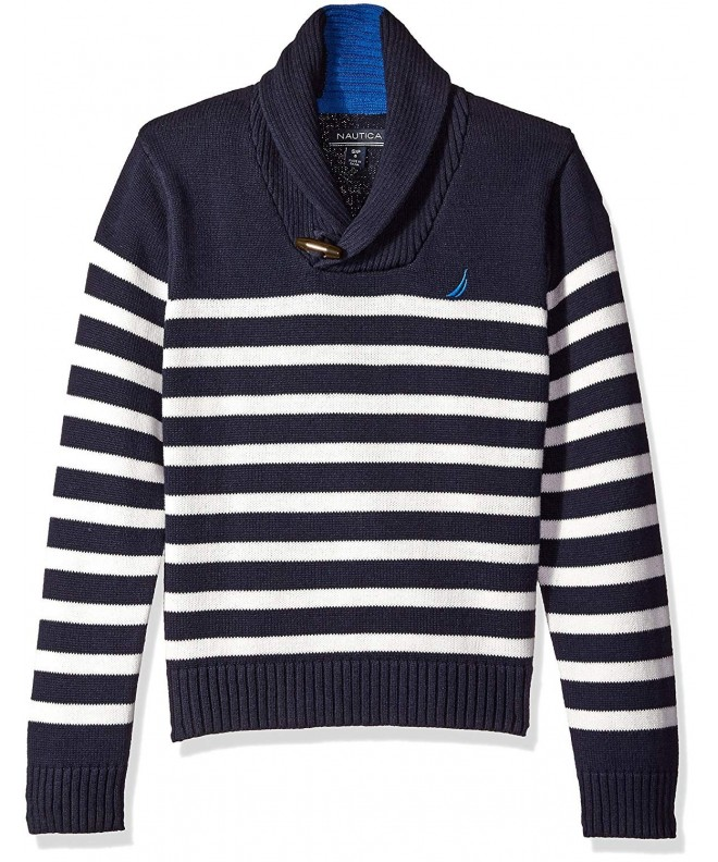 Nautica Rockport Striped Sweater Closure