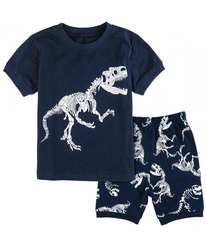DESIGN Dinosaur Pajamas Short Sleeve